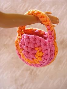 Hračky - Barbie - oranžová okrúhla kabelka - 9915103_