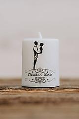 Darčeky pre svadobčanov - Menovka alebo darček pre svadobčanov - Sviečka - Vzor č.12 - 9915512_