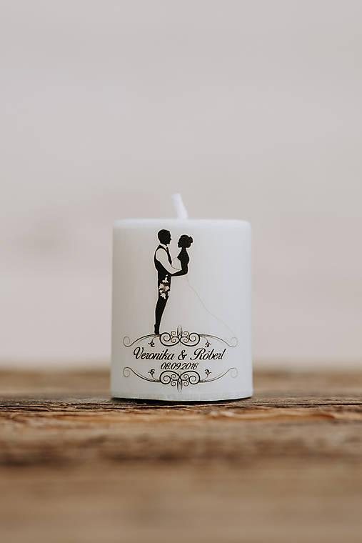 Menovka alebo darček pre svadobčanov - Sviečka - Vzor č.12