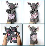 Hračky - Maňuška myška - na objednávku - 9914866_