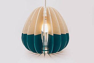Svietidlá a sviečky - Drevená lampa