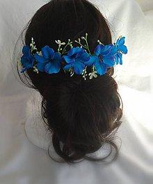 Ozdoby do vlasov - Modry polvencek - 9914427_