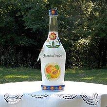 Iné - Ozdobná darčeková fľaša Marhuľovica - 9916944_