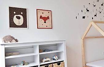 Obrázky - drevený obraz Líška - 9915838_