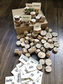 Darčeky pre svadobčanov - Svadobné menovky / stojany na fotografie - 9915989_