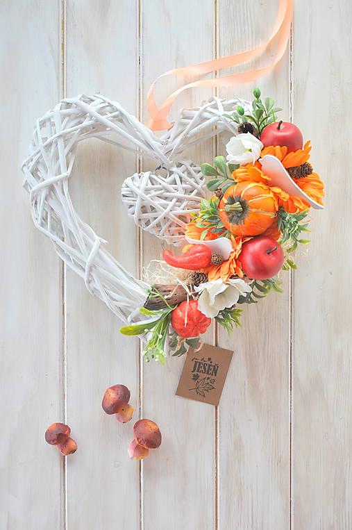 Jesenné srdce   MONAMADE - SAShE.sk - Handmade Dekorácie 2ff61673c56