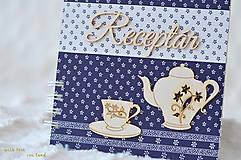 Papiernictvo - Receptárik - modrotlač (šáločkový) - 9915752_