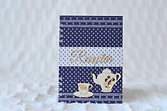 Papiernictvo - Receptárik - modrotlač (šáločkový) - 9915753_