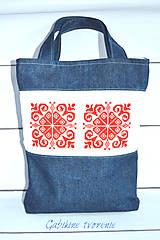 Kabelky - Vyšívaná taška - 9916689_