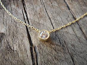 Iné šperky - Zirkónik na retiazke - 9915324_