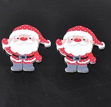 Polotovary - VY102 Výrez drevený Santa Clause 3,5 x 4,0 cm - 9916158_