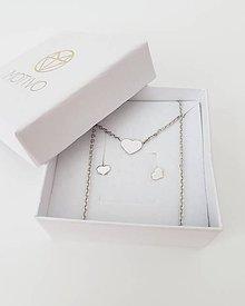 be618d6db Náušnice - Náušnice srdiečka biela zlato šrobovací uzáver - 9914951_