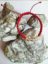 Náramky - Ochranný červený náramok Býk - 9916045_