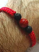 Náramky - Ochranný červený náramok Rak-muž - 9916093_