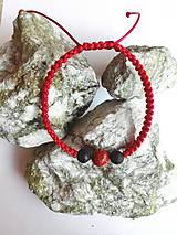 Náramky - Ochranný červený náramok Rak-muž - 9916100_