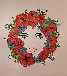 Tričká - Veselé tričko Milujem maky veľkosť L - 9916510_