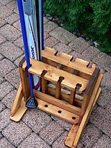 Nábytok - Drevený stojan na bežky a paličky - 4 miestny - 9917216_