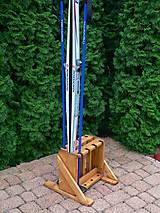 Nábytok - Drevený stojan na bežky a paličky - 4 miestny - 9917220_