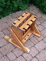 Nábytok - Drevený stojan na bežky a paličky - 4 miestny - 9917224_