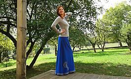 Sukne - Maxisukně fleecová i na míru, i jiné barvy - 9914667_