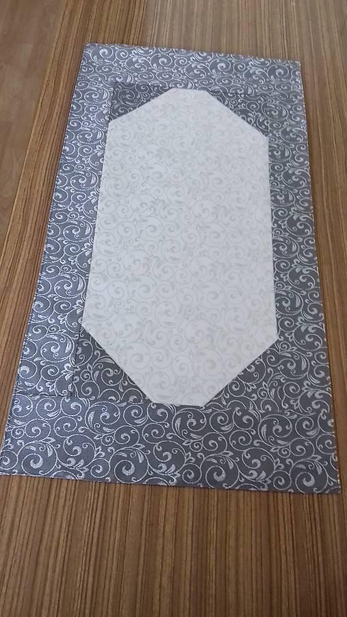 3e3fe6ac9 Obrus - štóla strieborná s bielou / svan - SAShE.sk - Handmade ...