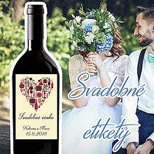 Darčeky pre svadobčanov - Svadobné etikety 44 - 10ks balenie - 9914225_