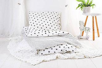 Textil - Detské obliečky hviezdičky a bodky - 9914127_