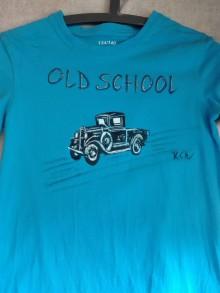 Detské oblečenie - Chlapčenské tričko maľované auto - 9914734_