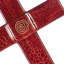 Dekorácie - Sklenený kríž na stenu RUBIN 0821s- špirála - 9914292_