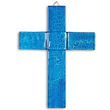 Dekorácie - Sklenený kríž na stenu MERE 0721 - 9914501_