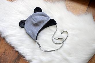 Detské čiapky - Pružná čiapka malý macko - 9913965_