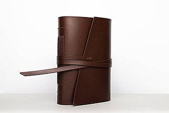 Papiernictvo - Kožený zápisník Ernest - 9915247_