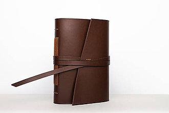 Papiernictvo - Kožený zápisník Viktória - 9915286_