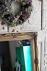 Zrkadlá - Zlaté blondelové zrkadlo - predané! - 9917691_