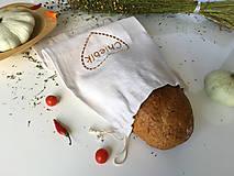 Úžitkový textil - Vrecko na chlieb z ľanového plátna - 9916955_