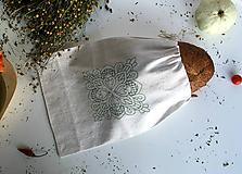 Úžitkový textil - Vrecúško na chlieb z ručne tkaného plátna - 9917082_