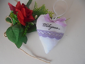 Darčeky pre svadobčanov - Svadobné srdiečko s poďakovaním - 9913849_