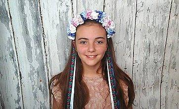 Ozdoby do vlasov - Svadobná parta -belasé nebo - 9920817_