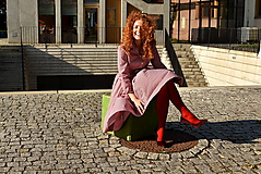 Šaty - Košilové šaty BEATRIX, 3v1 s flexibilním pasem - 9921353_