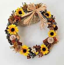 Dekorácie - Jesenný veniec - 9920144_