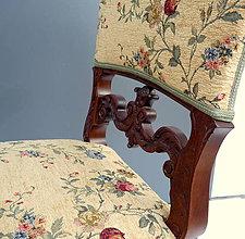 Nábytok - Starožitné rezbované stoličky - 9918555_