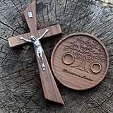 - SET svadobný kríž a podnos na obrúčky - 9921378_