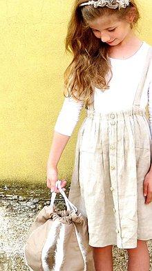 Detské oblečenie - Detská ľanová na traky - 9918814_