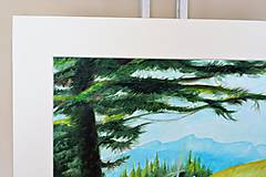 Obrazy - Strom a hory  - predaný - 9919547_