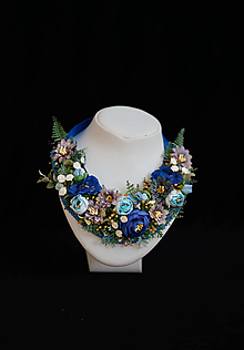 """Náhrdelníky - Kvetinový náhrdelní """"Pre modrú vílu"""" - 9921395_"""