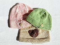 Detské čiapky - Detské čiapky  (Béžová čiapočka s mackom) - 9919367_