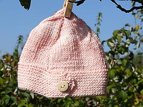 Detské čiapky - Detské čiapky  (Ružová čiapočka) - 9919388_