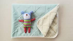 Textil - RUNO SHOP Deka 100% ovčie rúno MERINO ELEGANT MINT mentolová - 9918241_