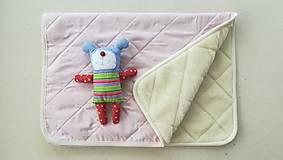 Textil - RUNO SHOP Deka 100% ovčie rúno MERINO ELEGANT powder Pink púdrová ružová - 9918286_