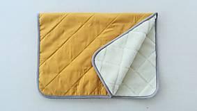 Textil - RUNO SHOP Deka 100% ovčie rúno MERINO ELEGANT MUSTARD horčicová žltá - 9918310_
